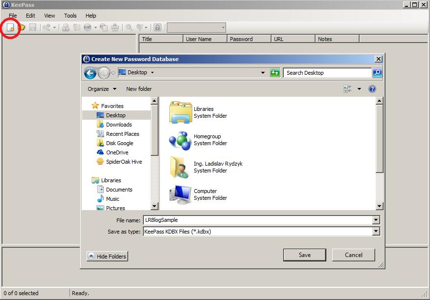 KeePass 2 - Vytvorenie novej databázy hesiel