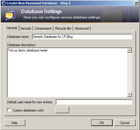 KeePass - Vytvorenie databázy hesiel
