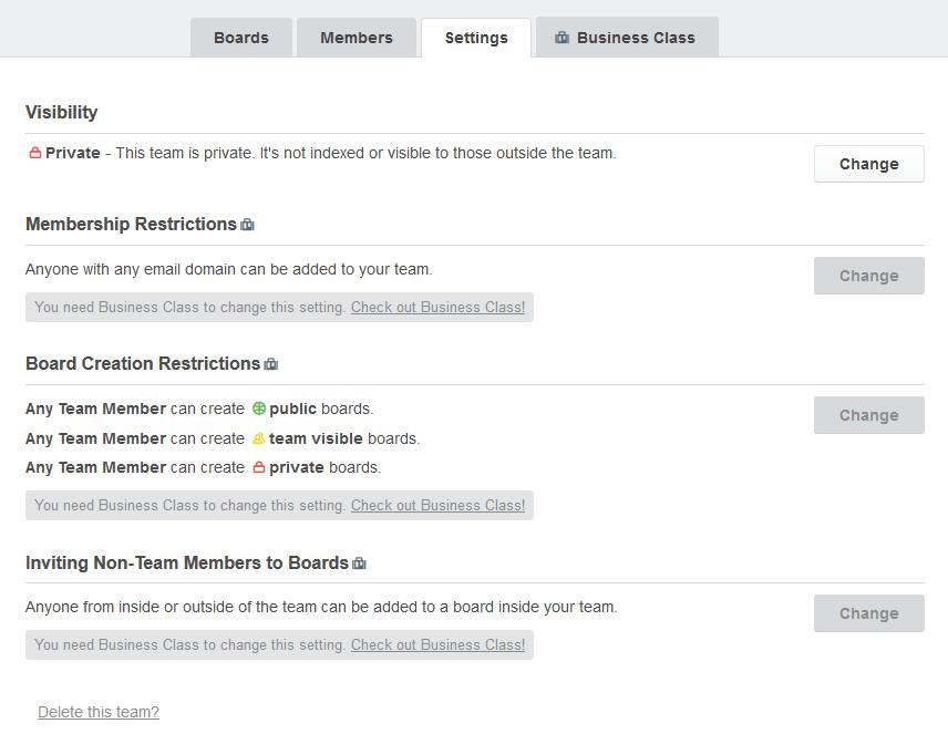 Trello - Nastavenie projektovej stránky