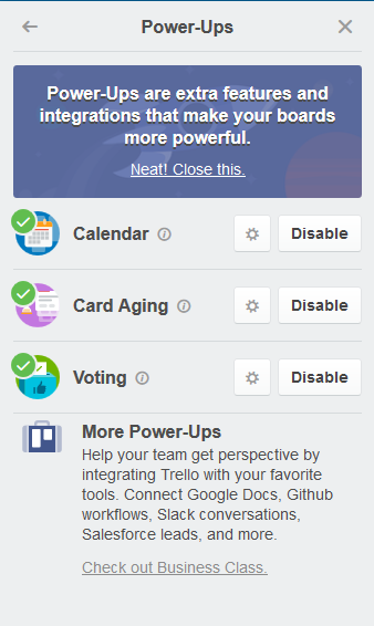 Trello - Power Ups