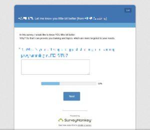 Survey Monkey - Výstupný formulár